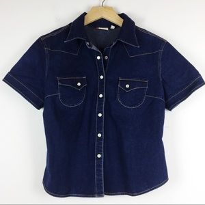 Semi vintage Y2K Levi's mini stretch western shirt